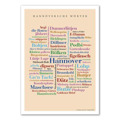 Poster Hannöversche Wörter - 50x70 cm