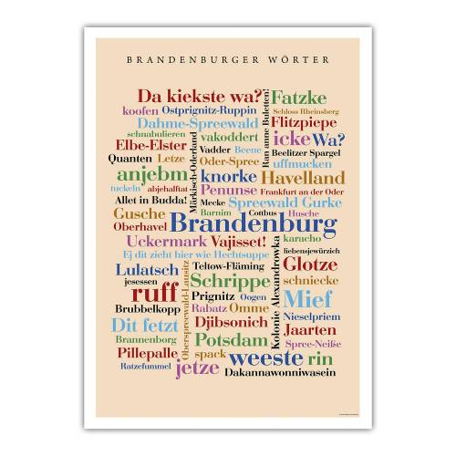 Poster Brandenburger Wörter