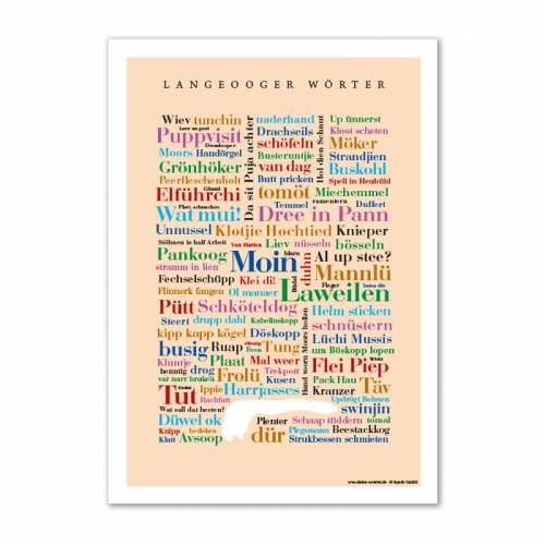 Poster Langeooger Wörter