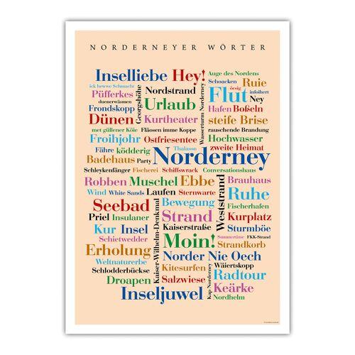 Poster Norderneyer Wörter