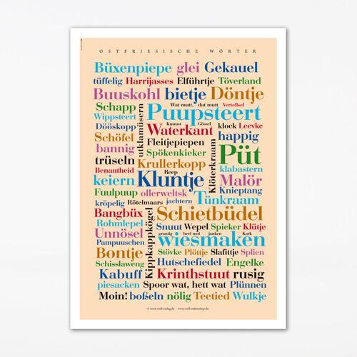 Poster Ostfriesische Wörter - 30x40 cm