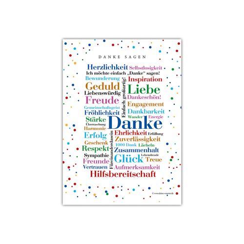 Postkarte Danke Wörter (DIN A6)