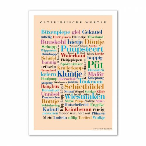 Postkarte Ostfriesische Wörter (DIN A6)