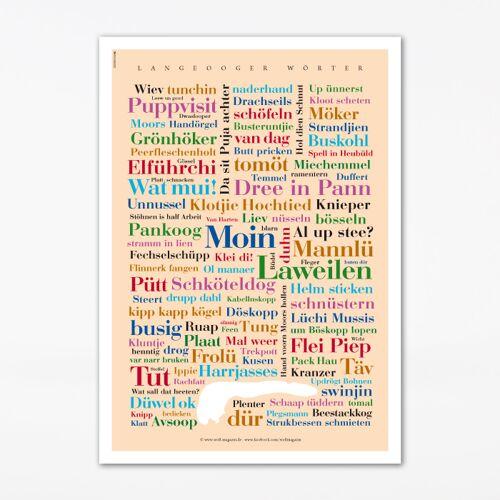 Poster Langeooger Wörter - 50x70 cm