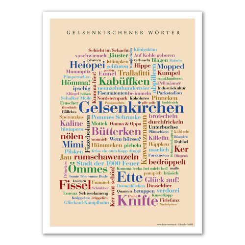 Poster Gelsenkirchener Wörter - DIN A4