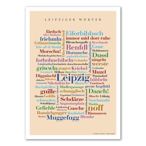 Poster Leipziger Wörter - 50x70 cm