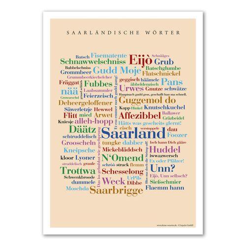 Poster Saarländische Wörter - 30x40 cm