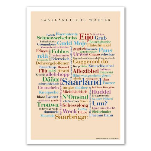 Poster Saarländische Wörter - 50x70 cm
