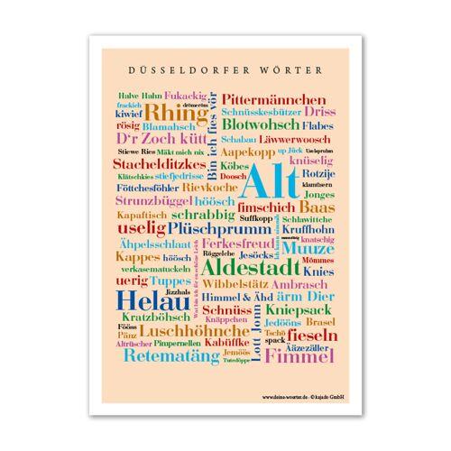 Poster Düsseldorfer Wörter - DIN A4