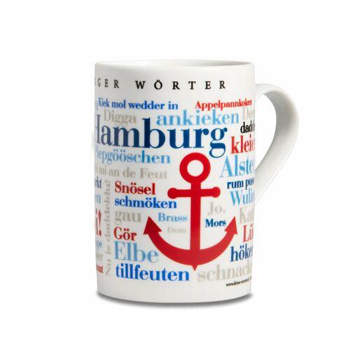 Kaffeebecher Hamburger Wörter
