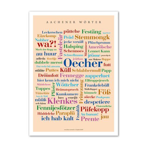Poster Aachener Wörter - 30x40 cm