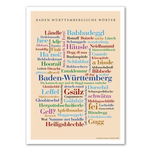 Poster Baden-Württembergische Wörter