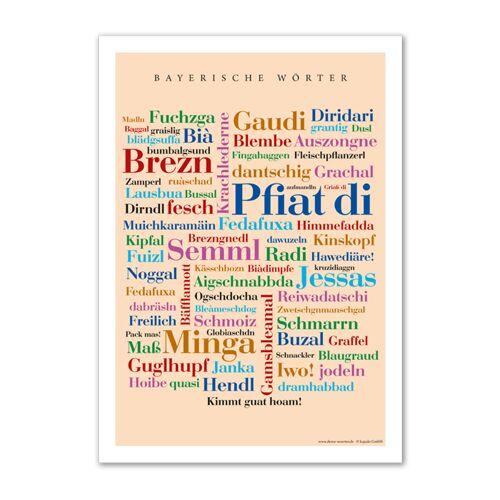 Poster Bayerische Wörter