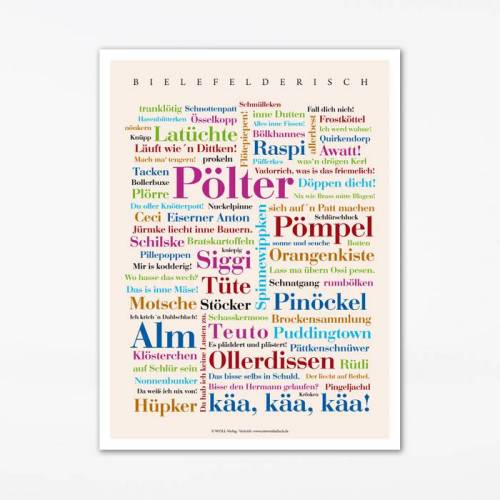 Poster Bielefelder Wörter - 50x70 cm