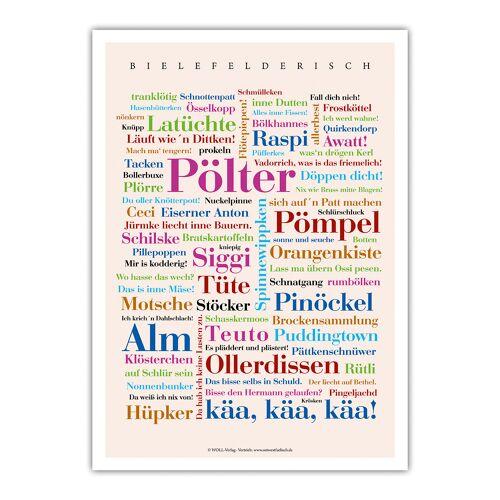 Poster Bielefelder Wörter