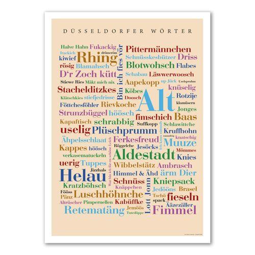 Poster Düsseldorfer Wörter - 50x70 cm