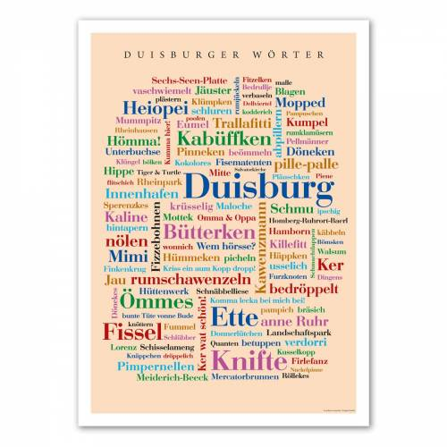 Poster Duisburger Wörter - DIN A4