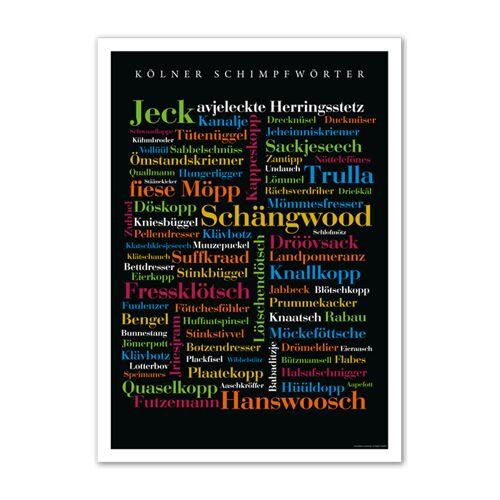 Poster Kölner Schimpfwörter - 30x40 cm