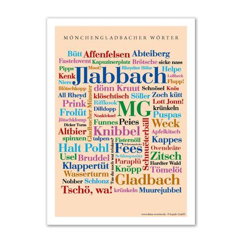 Poster Mönchengladbacher Wörter - 50x70 cm