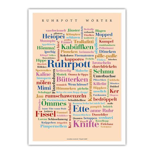 Poster Ruhrpott Wörter - 30x40 cm