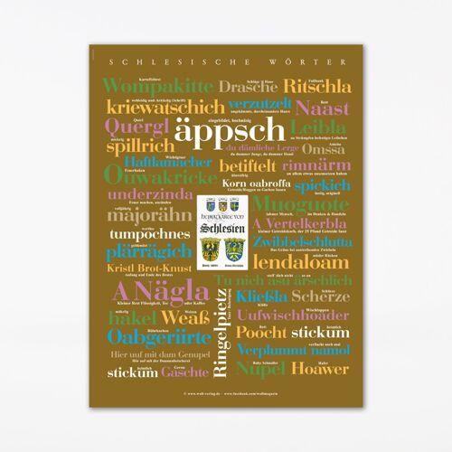 Poster Schlesische Wörter, 30x40 cm