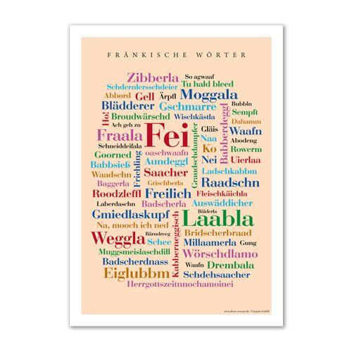 Postkarte Fränkische Wörter (DIN A6)