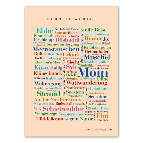 Postkarte Nordsee Wörter (DIN A6)
