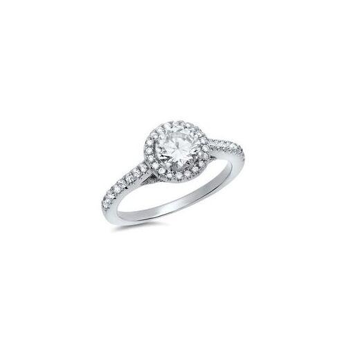 Unique Moderner Verlobungsring 925 Silber Zirkonia
