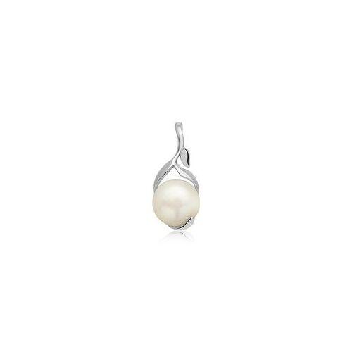 Unique Anhänger 925 Sterlingsilber Pflanzenform Perle