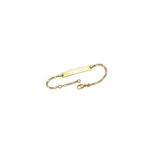 Unique Armband 375 Gold Gravurplatte 1,3mm breit