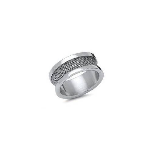 Unique Moderner Ring Edelstahl mit Stahlseil-Optik