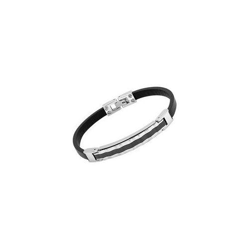 Unique Armband Leder Edelstahlplatte