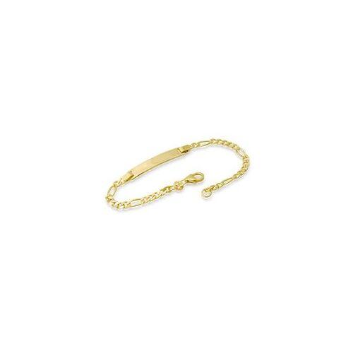 Unique 585er Goldarmband: ID-Armband Gold 18,5cm