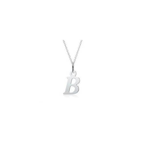 Unique Kette mit Buchstabenanhänger B aus 925er Silber