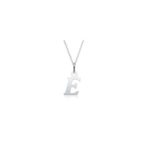 Unique Kette mit Buchstabenanhänger E aus 925er Silber