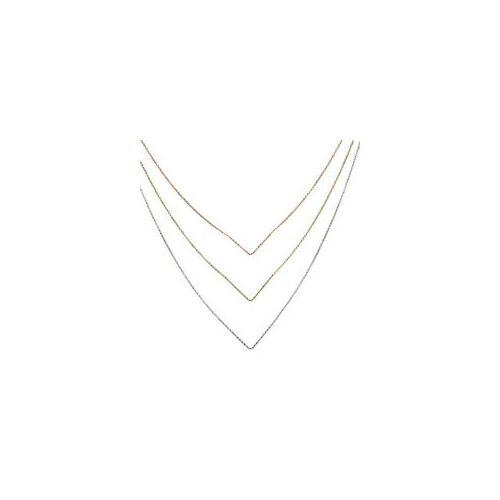 Unique Mehrreihige Halskette aus 925er Silber tricolor