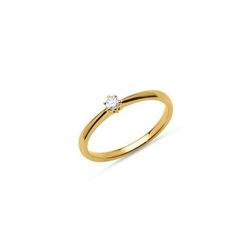 Unique 18K Goldring mit Diamant 0,10 ct.