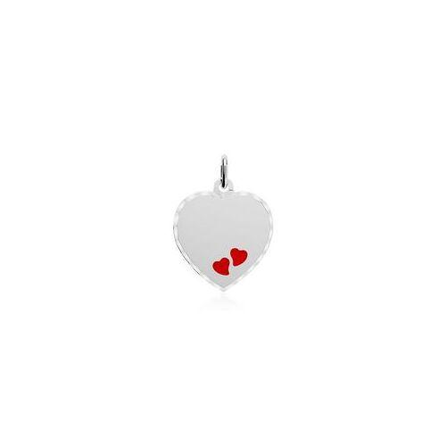Unique Gravur Kettenanhänger Herzen aus 925er Silber