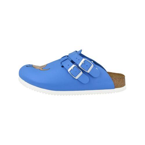 Birkenstock Clogs Kay SL Birko-Flor schmal Birkenstock blau  36,37,39,40,41,42