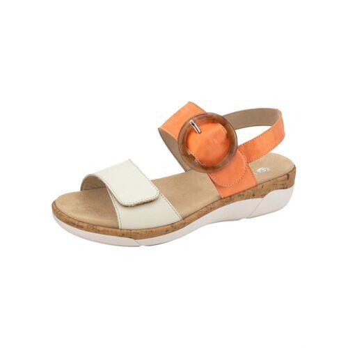 Remonte Sandale Remonte Orange/Creme-Weiß  36,37,38,39,40,41,42,43,44,45