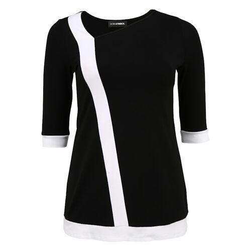 Doris Streich Tunika mit breitem Streifen Doris Streich schwarz/weiß  40,42,44,46,48