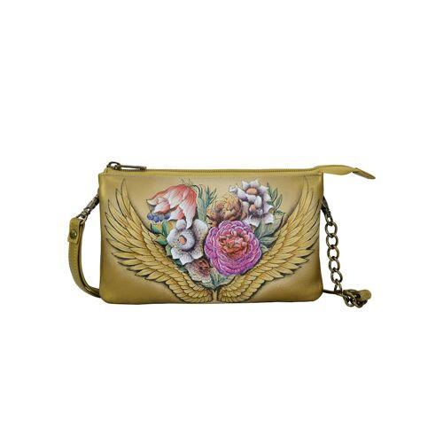 ANUSCHKA Umhängetasche Angels Wings aus handbemaltem Leder ANUSCHKA bunt  001