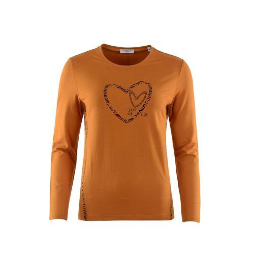 Hajo Shirt mit Folienapplikation Hajo zimt  44,46