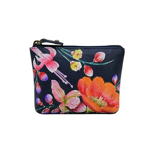 ANUSCHKA Mini Geldbörse Moonlit Meadow aus handbemaltem Leder ANUSCHKA mehrfarbig  001 001