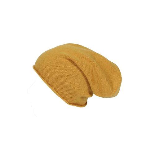 Zwillingsherz Strickmütze Meike aus Kaschmir Zwillingsherz gelb  001 001