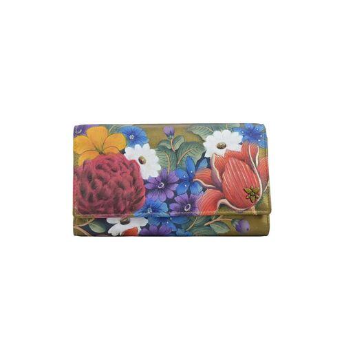 ANUSCHKA Brieftasche Dreamy Floral (handbemaltes Leder) ANUSCHKA bunt  001