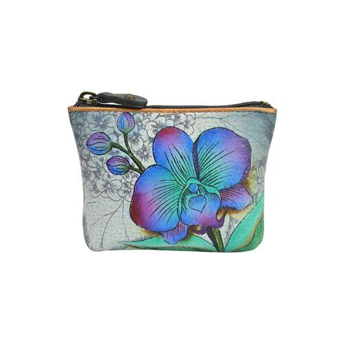 ANUSCHKA Mini Geldbörse Floral Fantasy aus handbemaltem Leder ANUSCHKA mehrfarbig  001 001
