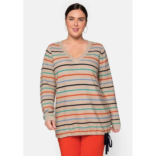 Sheego Pullover Sheego sand  44/46,48/50,52/54,56/58