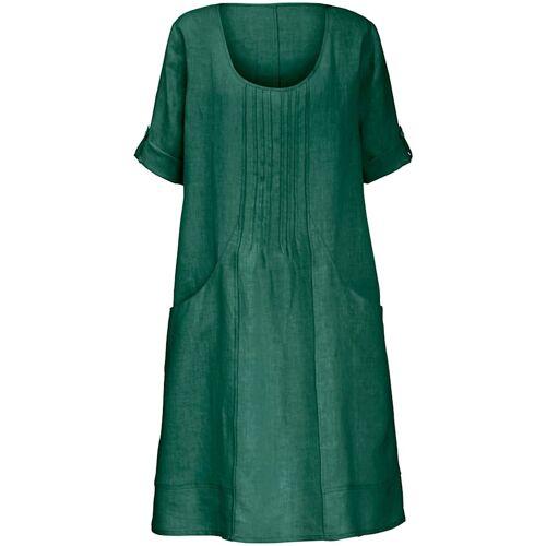 Anna Aura Kleid aus 100% Leinen mit 3/4-Arm Anna Aura grün  40,44,46 40,44,46
