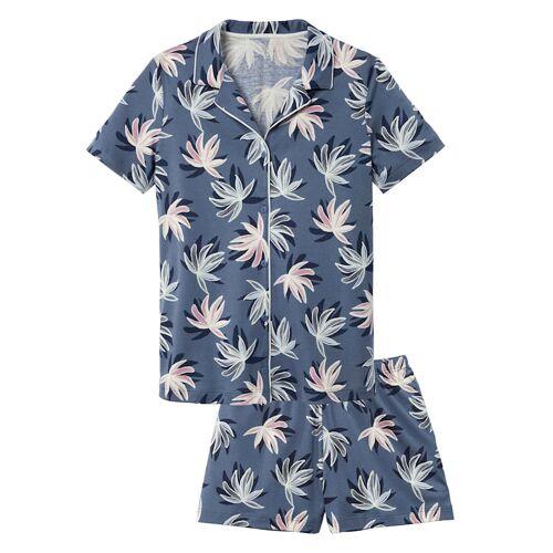 Calida Kurz-Pyjama, geknöpft Calida atlas blue  44,48 44,48